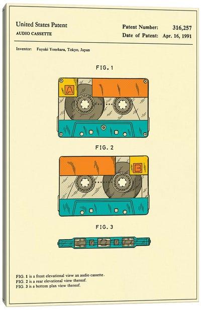 Fuyuki Yonehara (Fuji Film) Audio Cassette Patent Canvas Art Print
