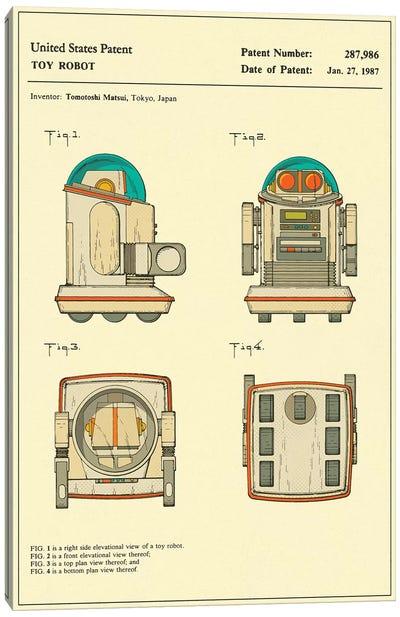 "Tomotoshi Matsui (Tomy Kogyo, Inc.) Toy Robot (""Omnibot"") Patent Canvas Art Print"