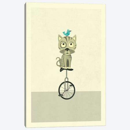 Balancing Cat Canvas Print #JBL173} by Jazzberry Blue Canvas Art Print