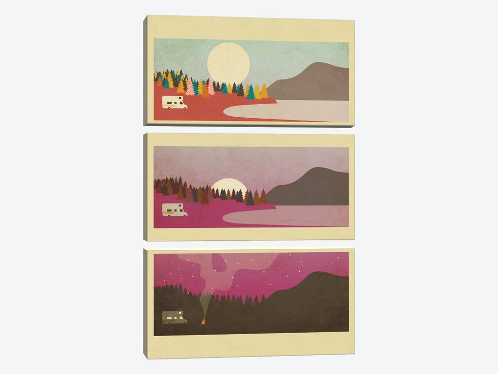 Campfire I by Jazzberry Blue 3-piece Canvas Art Print