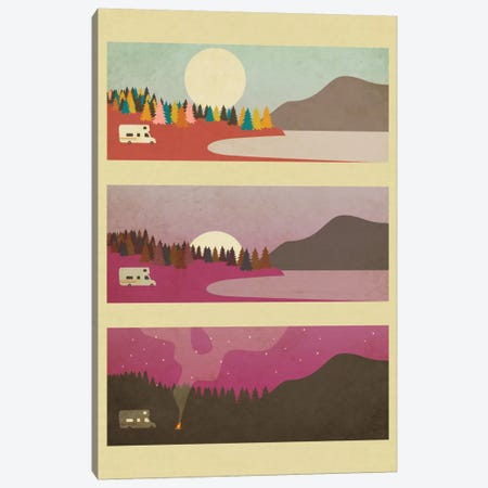 Campfire Canvas Print #JBL17} by Jazzberry Blue Canvas Print