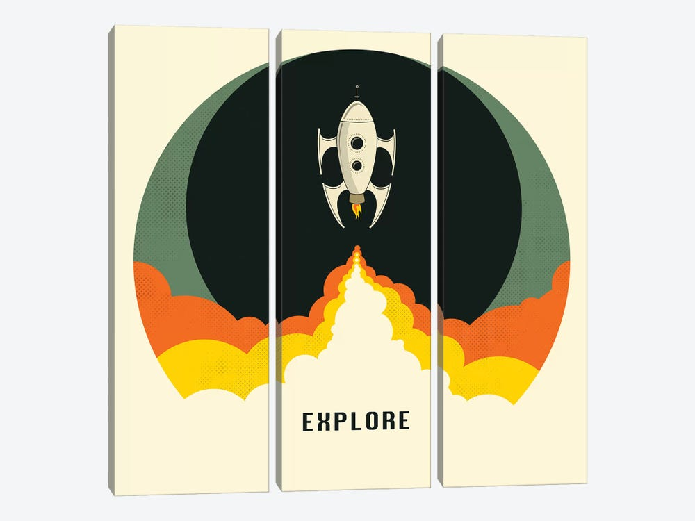 Explore I by Jazzberry Blue 3-piece Canvas Print