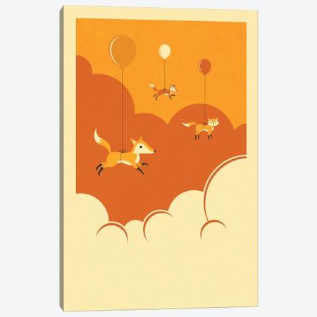 Flock Of Foxes Canvas Print #JBL186} by Jazzberry Blue Canvas Art Print