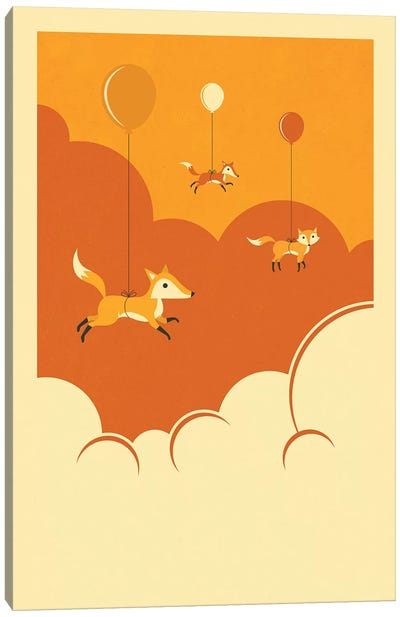 Flock Of Foxes Canvas Art Print