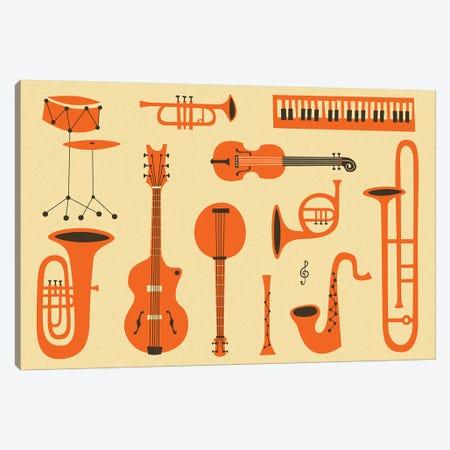 Just Jazz I Canvas Print #JBL191} by Jazzberry Blue Art Print