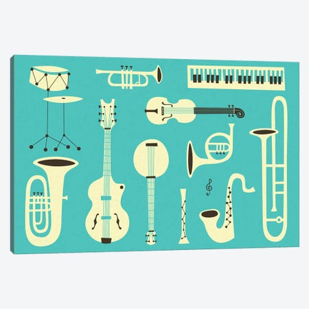 Just Jazz II Canvas Print #JBL192} by Jazzberry Blue Art Print