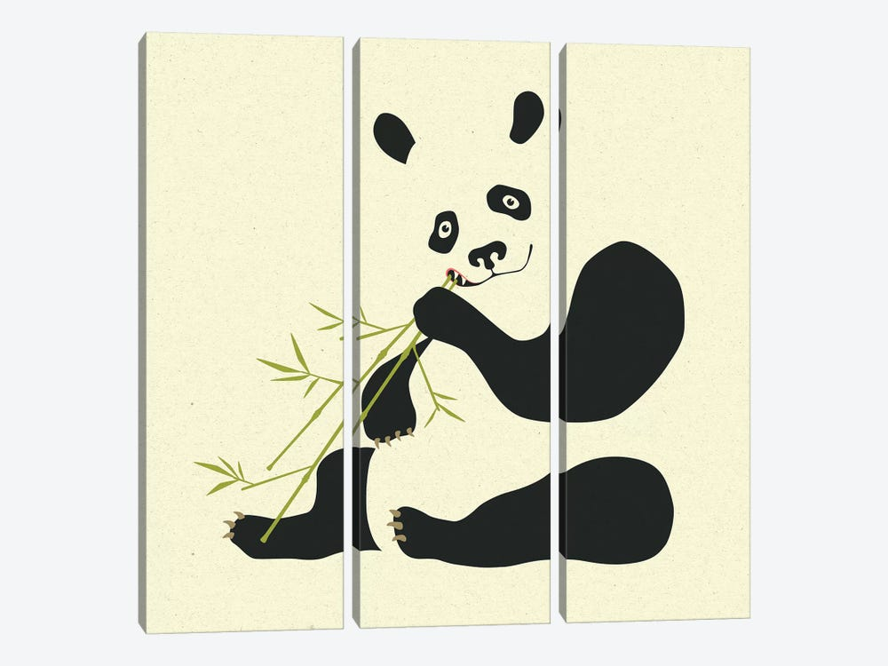 Panda II by Jazzberry Blue 3-piece Canvas Print