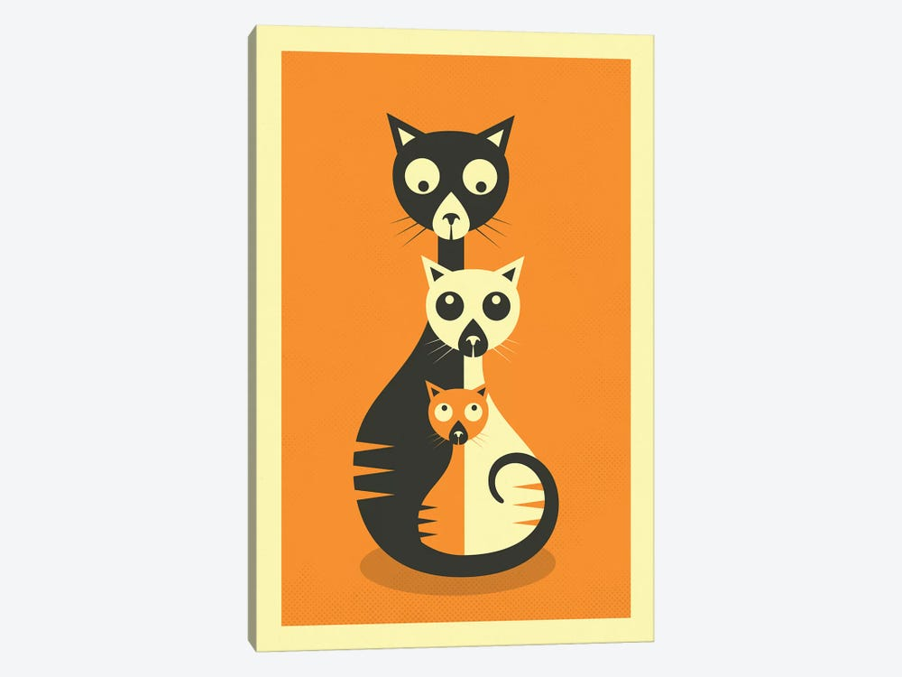 Sitting Cats by Jazzberry Blue 1-piece Canvas Art