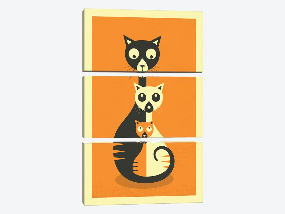 Sitting Cats by Jazzberry Blue 3-piece Canvas Art