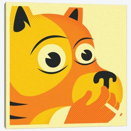 Smoking Dog Canvas Print #JBL204} by Jazzberry Blue Canvas Wall Art