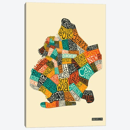Brooklyn Canvas Print #JBL209} by Jazzberry Blue Canvas Print