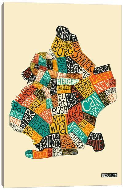 Typo-Geography Series: Brooklyn Canvas Print #JBL209