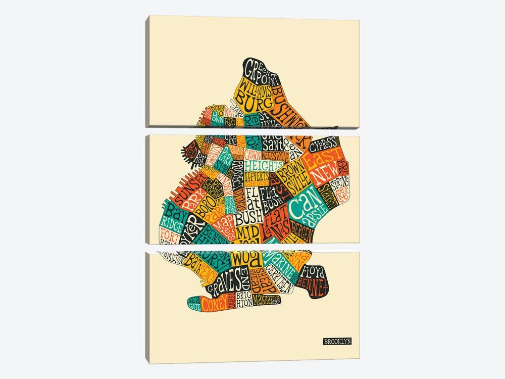 Brooklyn by Jazzberry Blue 3-piece Canvas Art Print