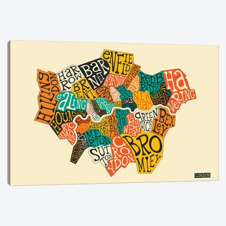London Canvas Print #JBL210} by Jazzberry Blue Canvas Wall Art