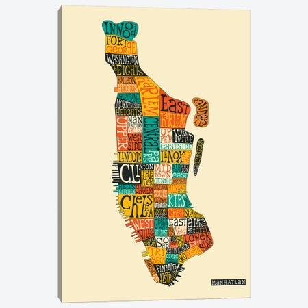 Manhattan Canvas Print #JBL211} by Jazzberry Blue Canvas Artwork
