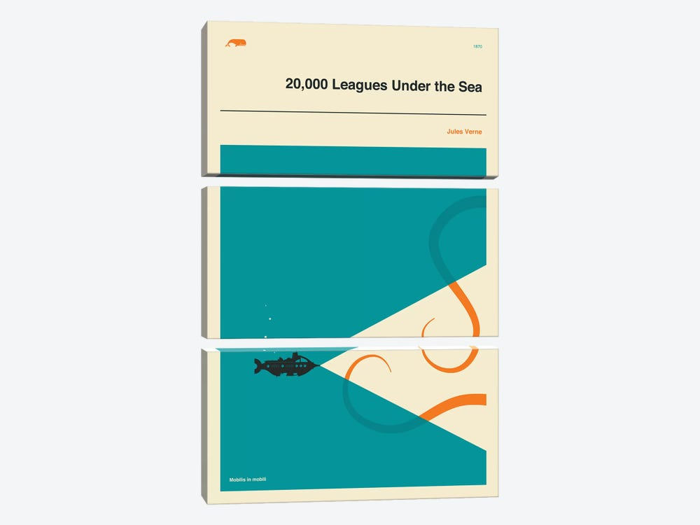 20,000 Leagues Under The Sea by Jazzberry Blue 3-piece Art Print