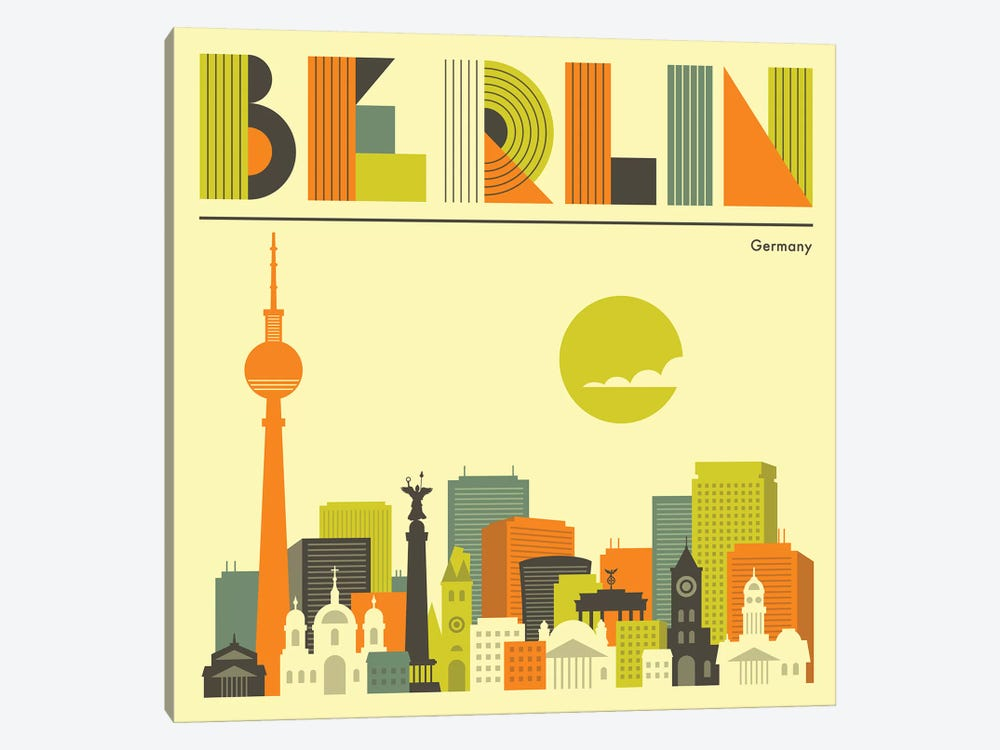 Berlin Skyline I by Jazzberry Blue 1-piece Art Print