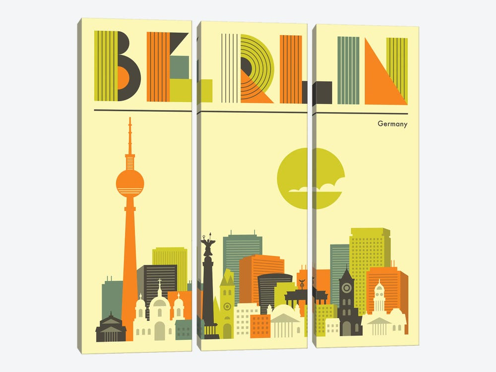 Berlin Skyline I by Jazzberry Blue 3-piece Art Print