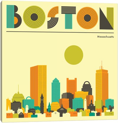 Boston Skyline I Canvas Art Print
