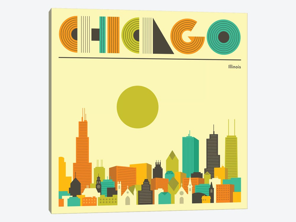 Chicago Skyline I by Jazzberry Blue 1-piece Canvas Art