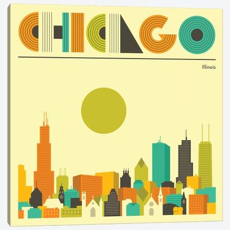 Chicago Skyline I Canvas Print #JBL219} by Jazzberry Blue Canvas Artwork