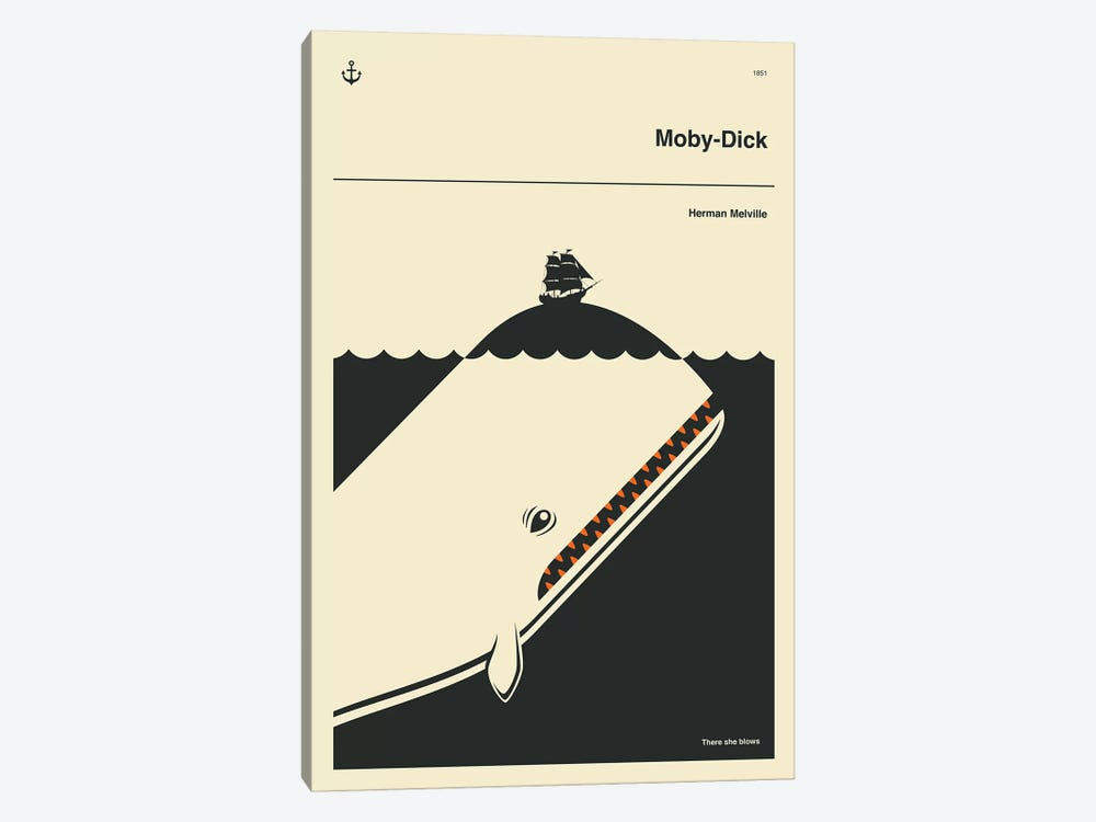Moby Dick by Jazzberry Blue 1-piece Canvas Print