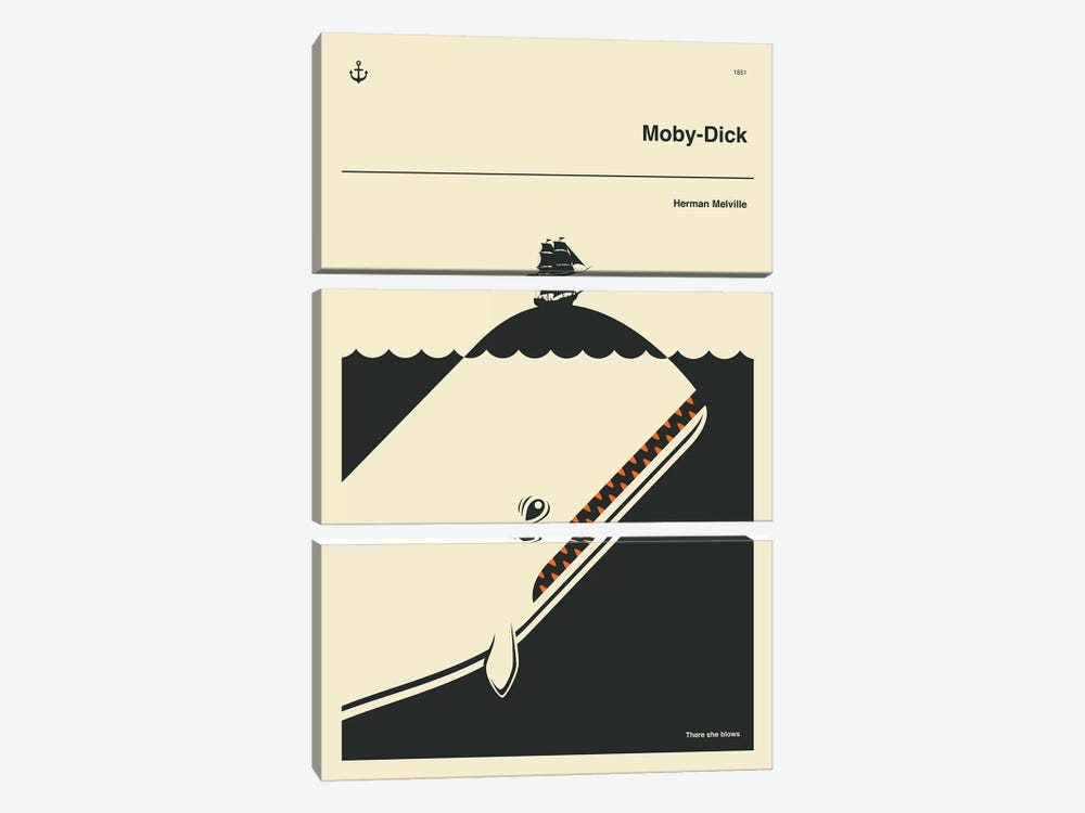 Moby Dick by Jazzberry Blue 3-piece Art Print