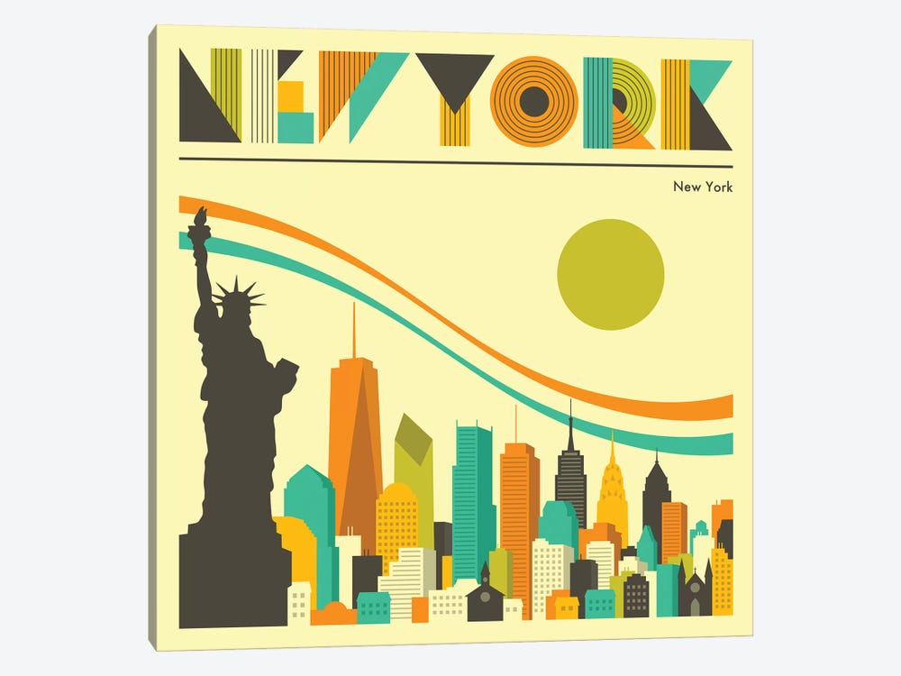 New York Skyline I by Jazzberry Blue 1-piece Canvas Print