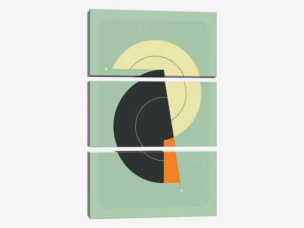Tick Tock XXIII by Jazzberry Blue 3-piece Canvas Print