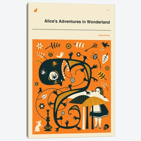 Alice's Adventures In Wonderland II Canvas Print #JBL238} by Jazzberry Blue Canvas Art