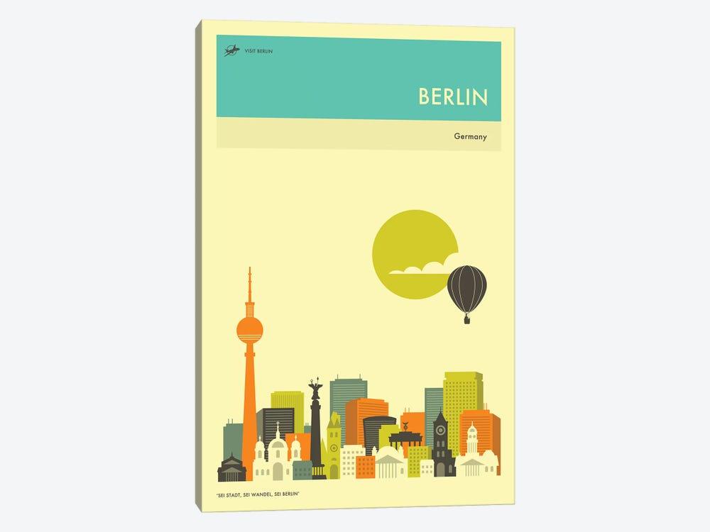 Berlin Skyline II by Jazzberry Blue 1-piece Canvas Artwork
