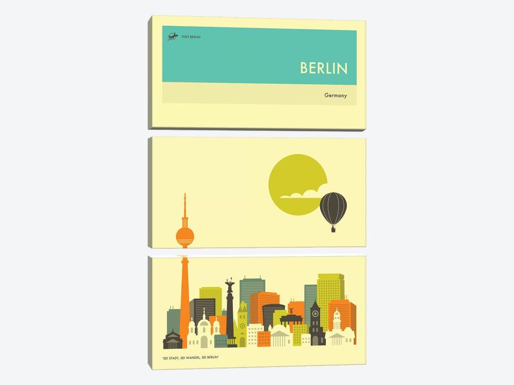 Berlin Skyline II by Jazzberry Blue 3-piece Canvas Art