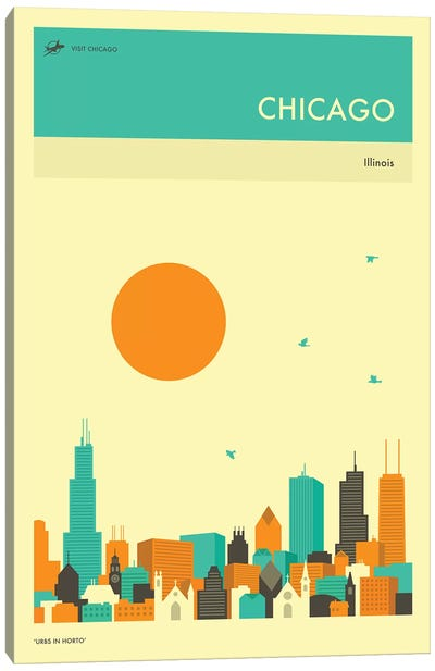 Chicago Skyline II Canvas Art Print