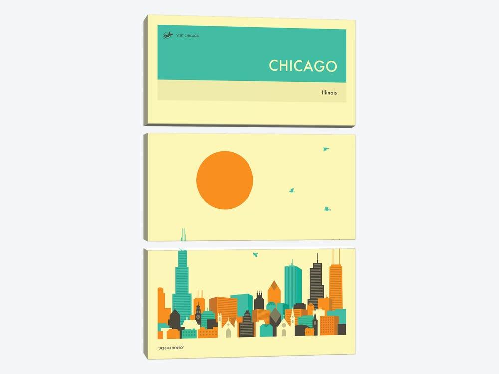 Chicago Skyline II by Jazzberry Blue 3-piece Art Print