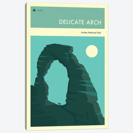 Delicate Arch Canvas Print #JBL248} by Jazzberry Blue Art Print