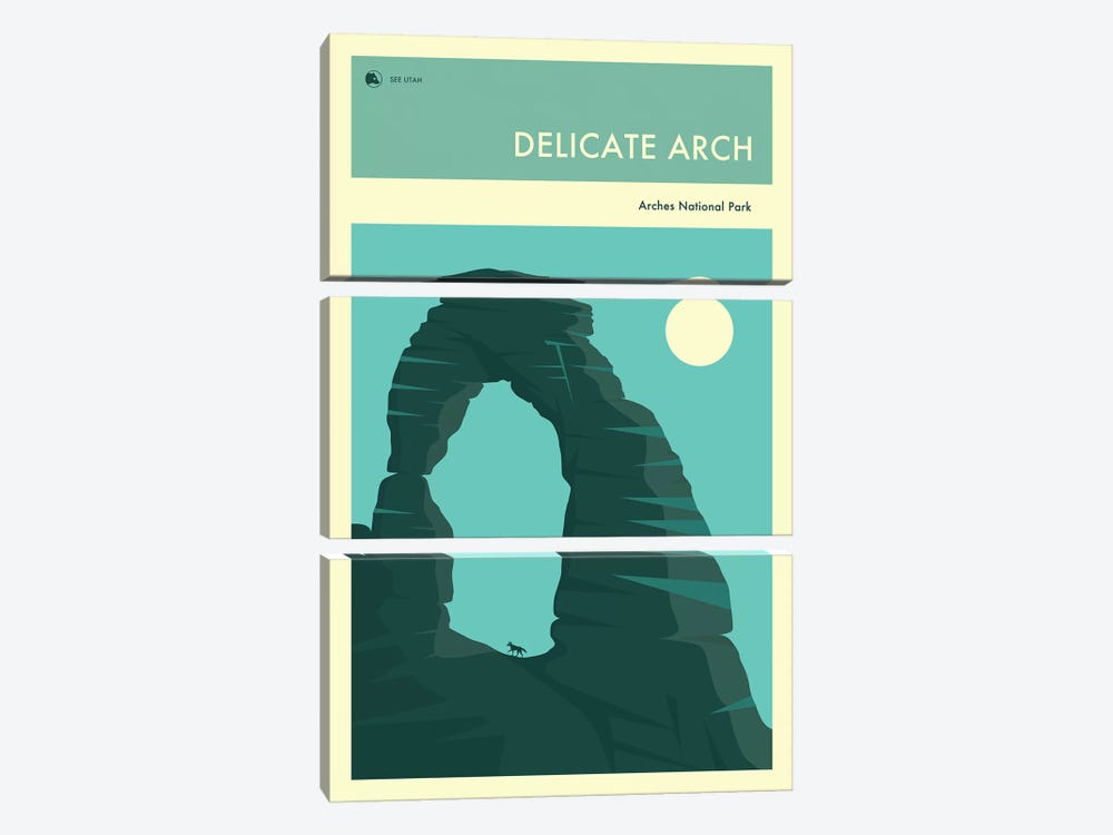 Delicate Arch by Jazzberry Blue 3-piece Canvas Art
