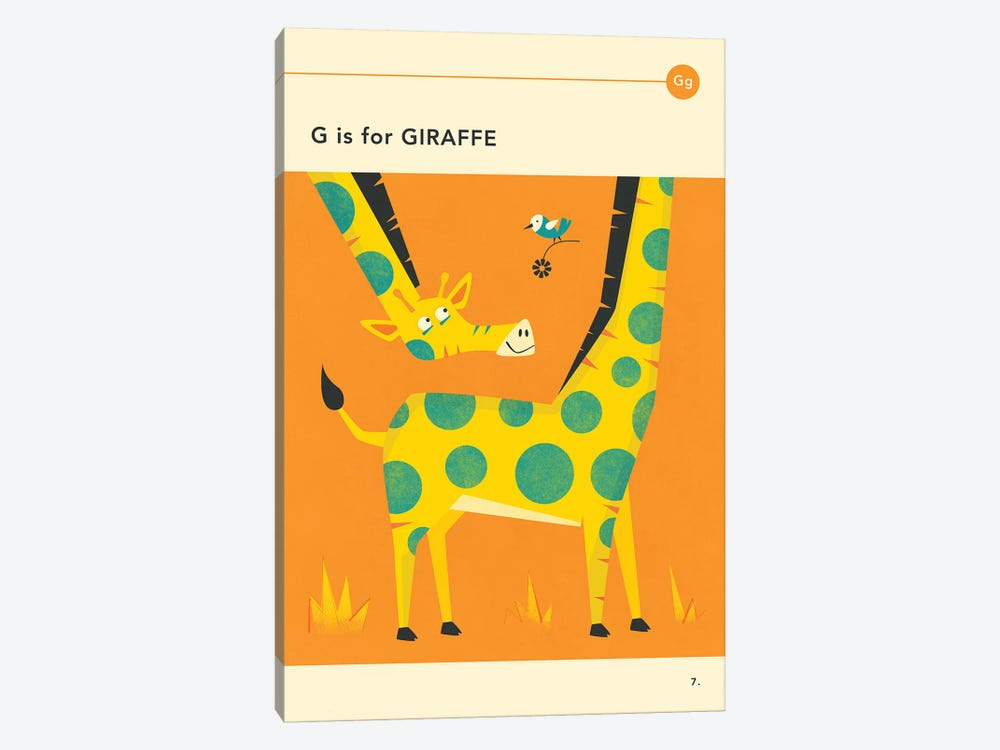 G Is For Giraffe by Jazzberry Blue 1-piece Canvas Print