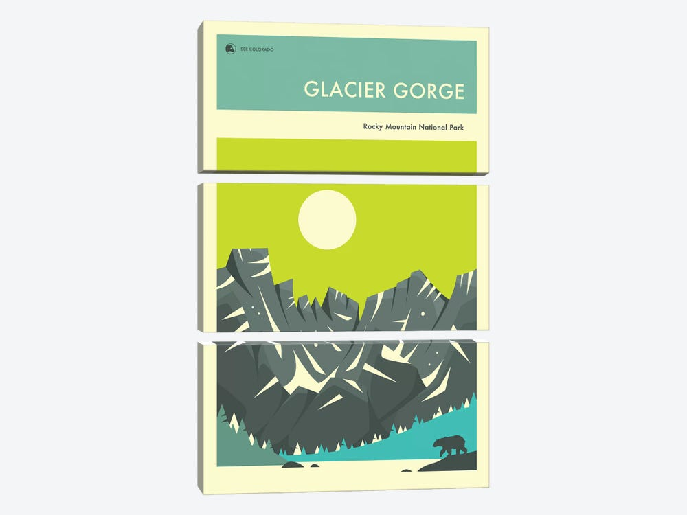 Glacier Gorge I by Jazzberry Blue 3-piece Canvas Print