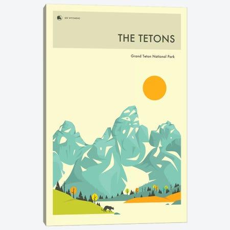 Grand Teton II 3-Piece Canvas #JBL258} by Jazzberry Blue Canvas Artwork