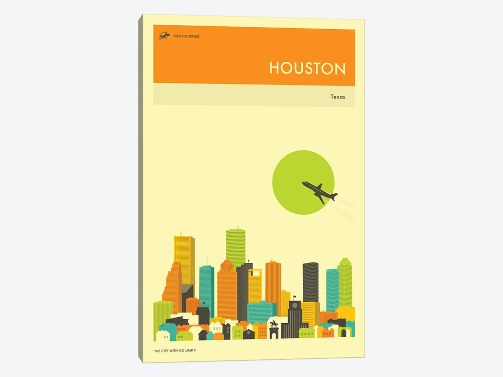 Houston Skyline III by Jazzberry Blue 1-piece Canvas Print