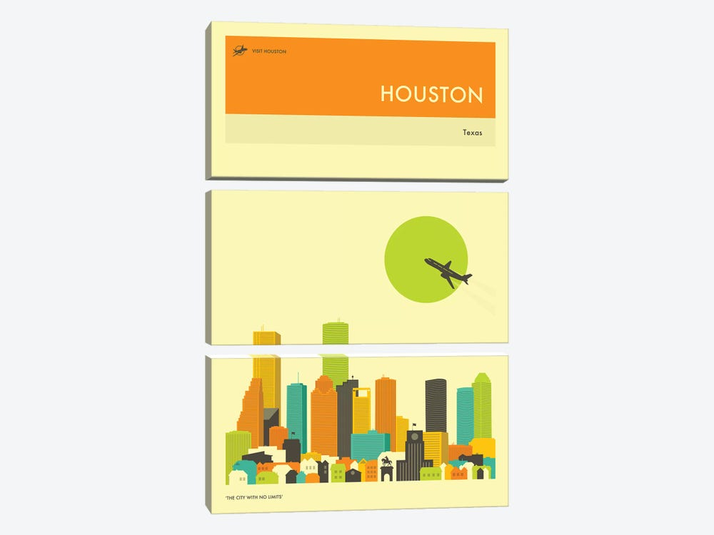 Houston Skyline III by Jazzberry Blue 3-piece Art Print