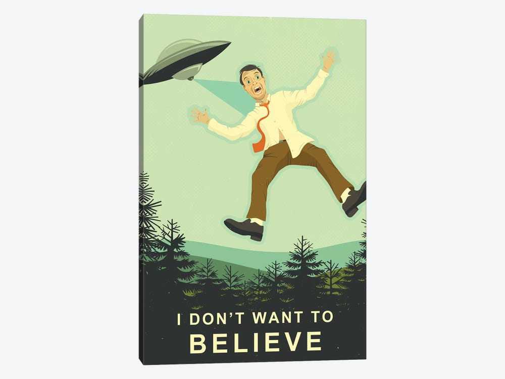 I Don't Want To Believe by Jazzberry Blue 1-piece Canvas Artwork