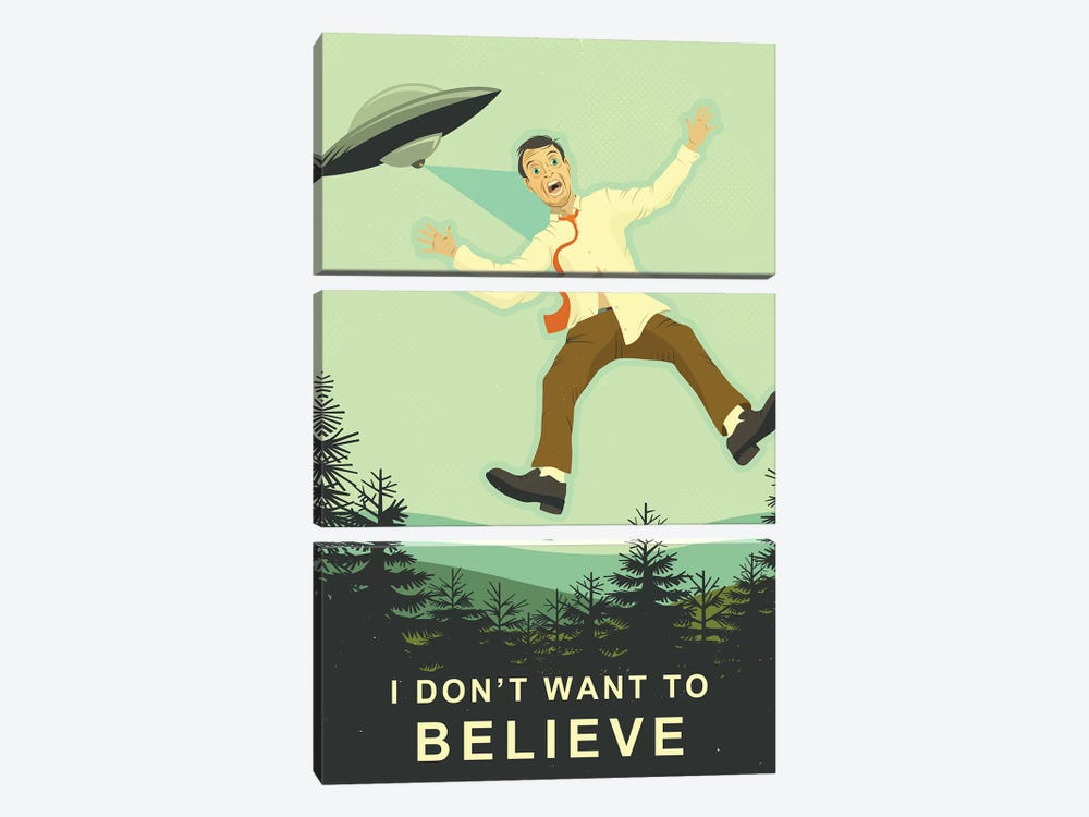 I Don't Want To Believe by Jazzberry Blue 3-piece Canvas Artwork