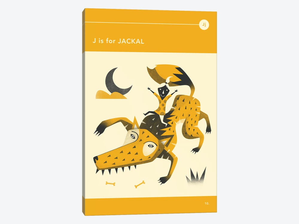 J Is For Jackal by Jazzberry Blue 1-piece Canvas Wall Art
