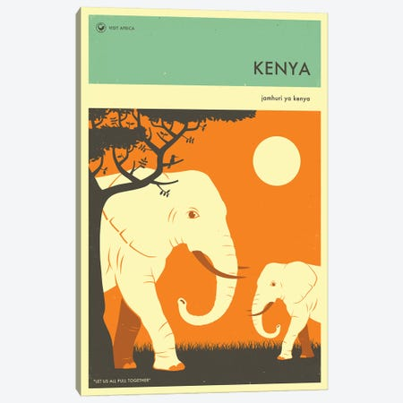 Kenya II Canvas Print #JBL266} by Jazzberry Blue Canvas Artwork