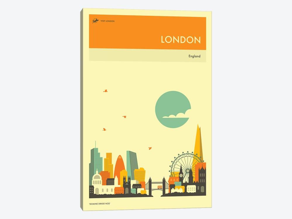 London Skyline II by Jazzberry Blue 1-piece Canvas Art Print