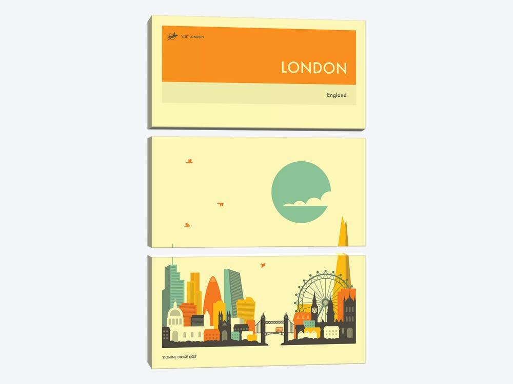 London Skyline II by Jazzberry Blue 3-piece Canvas Art Print
