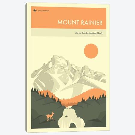 Mount Rainier Canvas Print #JBL271} by Jazzberry Blue Canvas Art