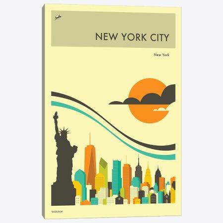 New York Skyline II Canvas Print #JBL272} by Jazzberry Blue Canvas Wall Art