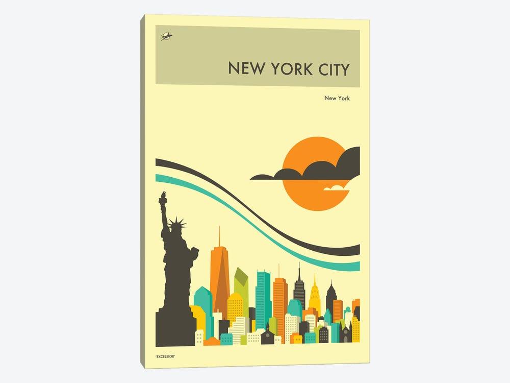 New York Skyline II by Jazzberry Blue 1-piece Canvas Art Print